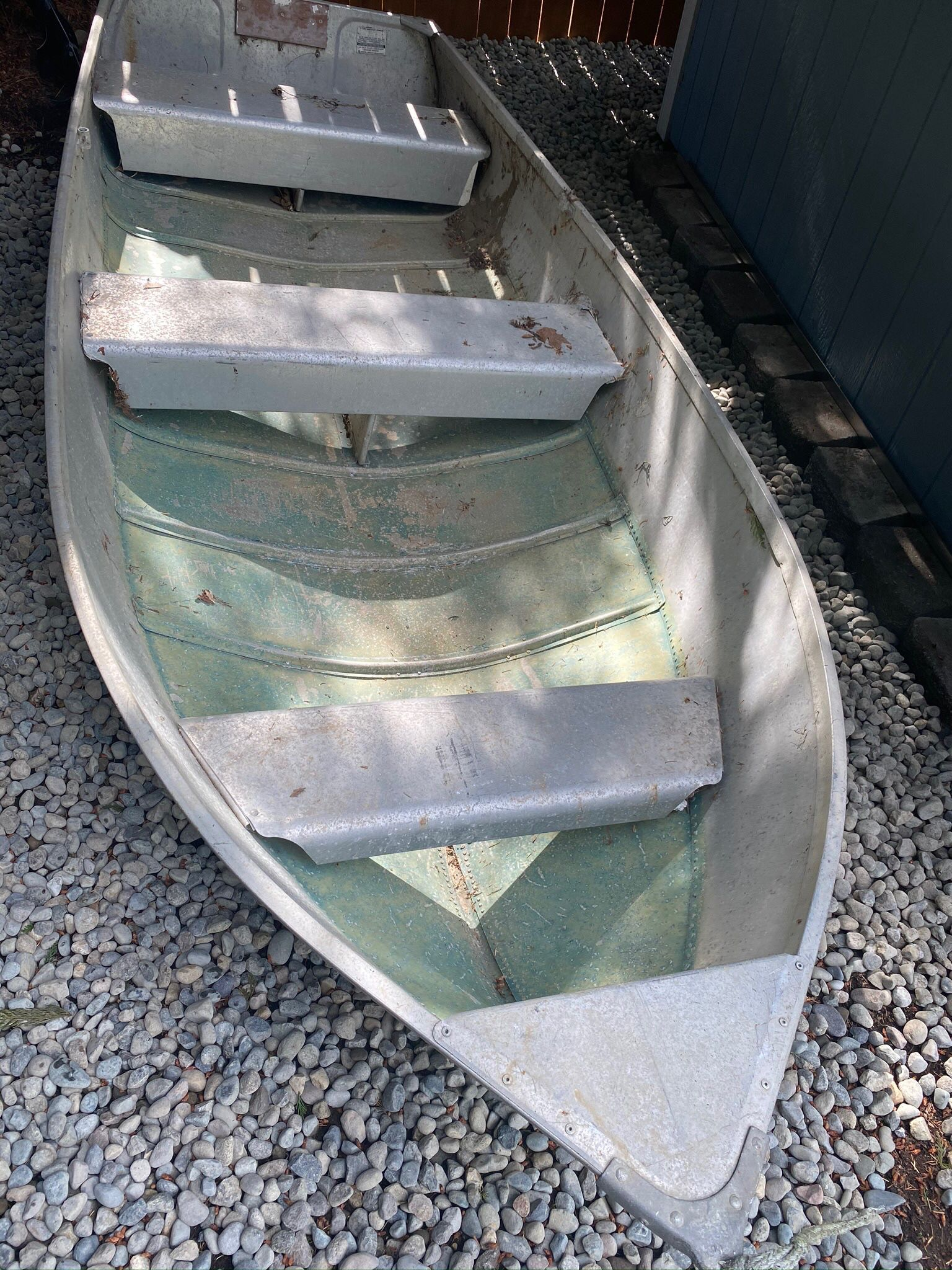 Photo 12 Ft Aluminum Sears Boat, No Leaks No Motor Or Trailer With The Boat Asking $500