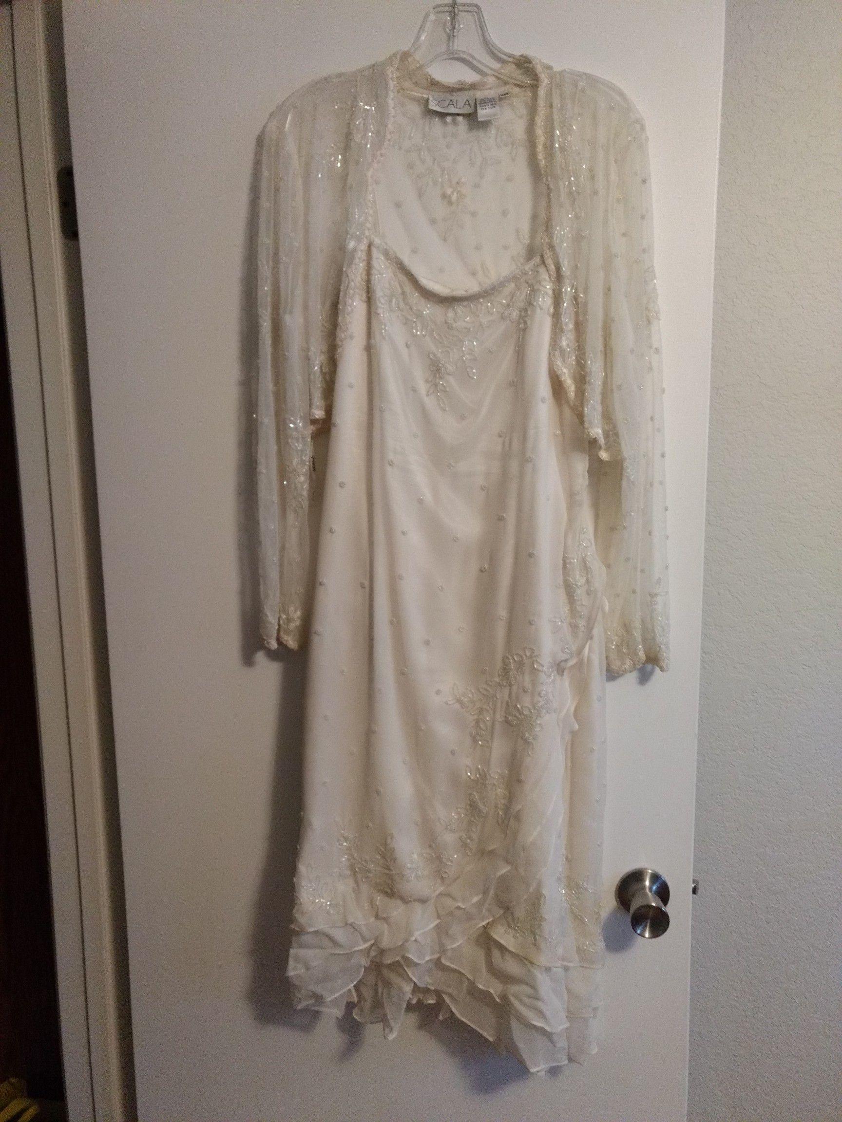 Scala sequin formal dress
