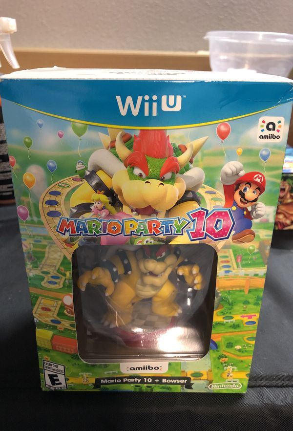 Mario Party 10 Plus Bowser Amiibo Bundle For Wii U For Sale In Crystal City Ca Offerup