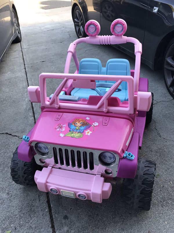 Wheels Barbie Jeep Ride On 12v Electric Car Kids
