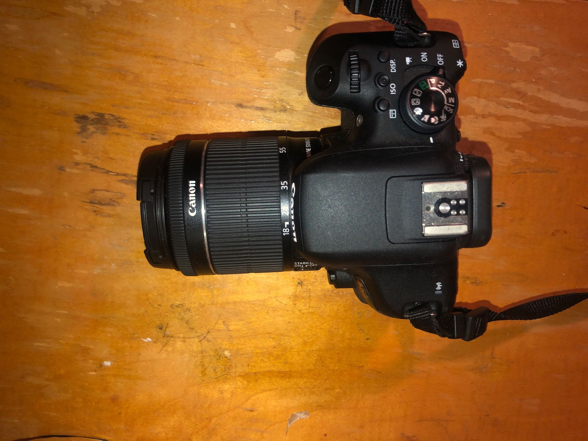 Canon EOS Rebel T6i with two lenses and charger
