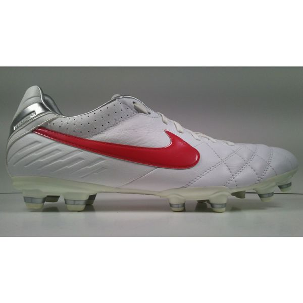 72499bbf5bd2 Rare! 2011 Nike Tiempo Mystic IV FG 454309-160 White/Red Mens Cleats Size 8 size  10
