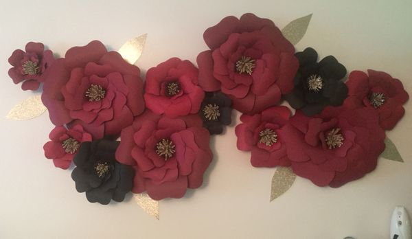 Paper flower wall decoration for sale in lacey wa offerup mightylinksfo