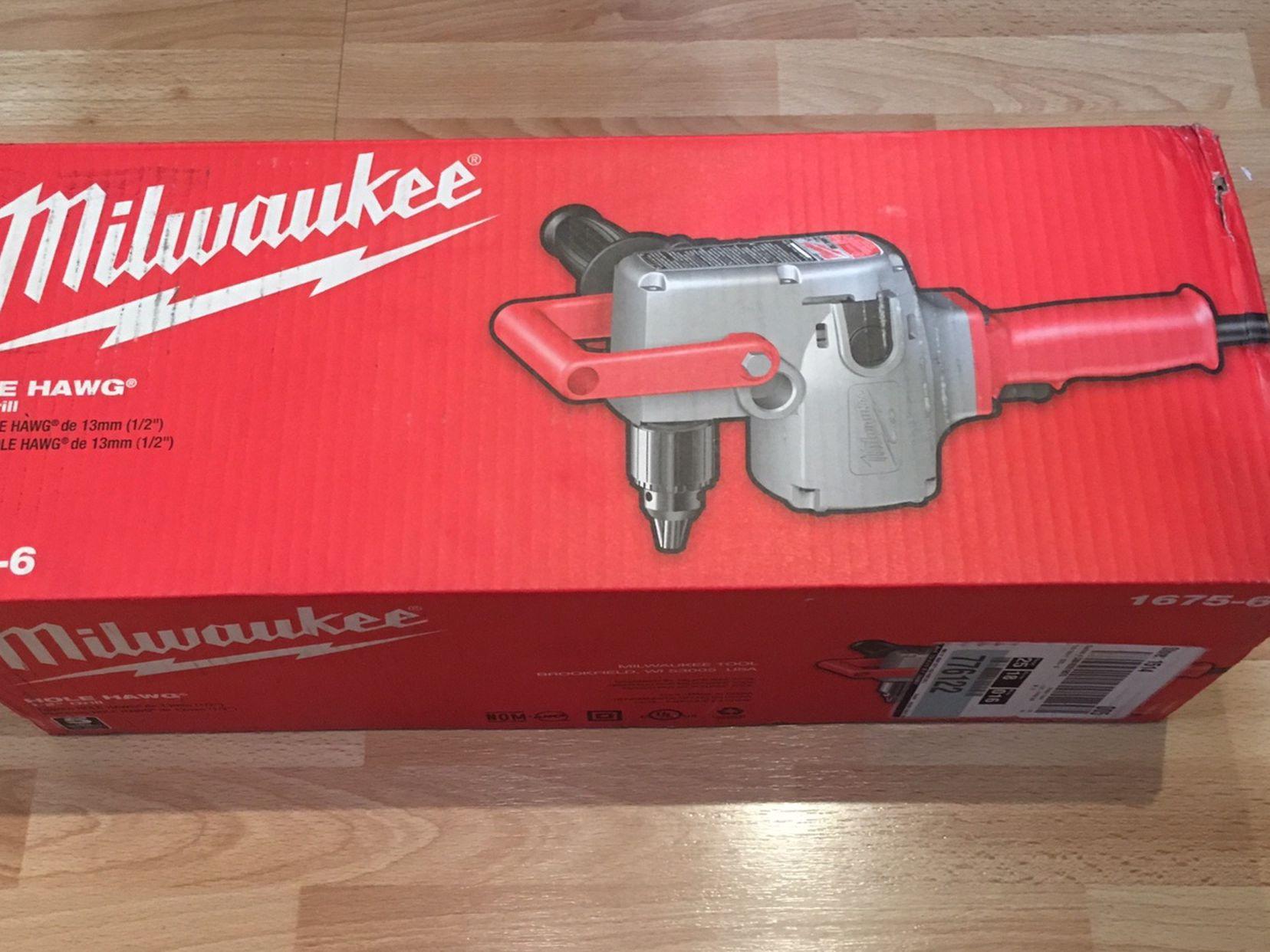 "Milwaukee 1/2"" Hole Hang M#1675-6 Brand New"