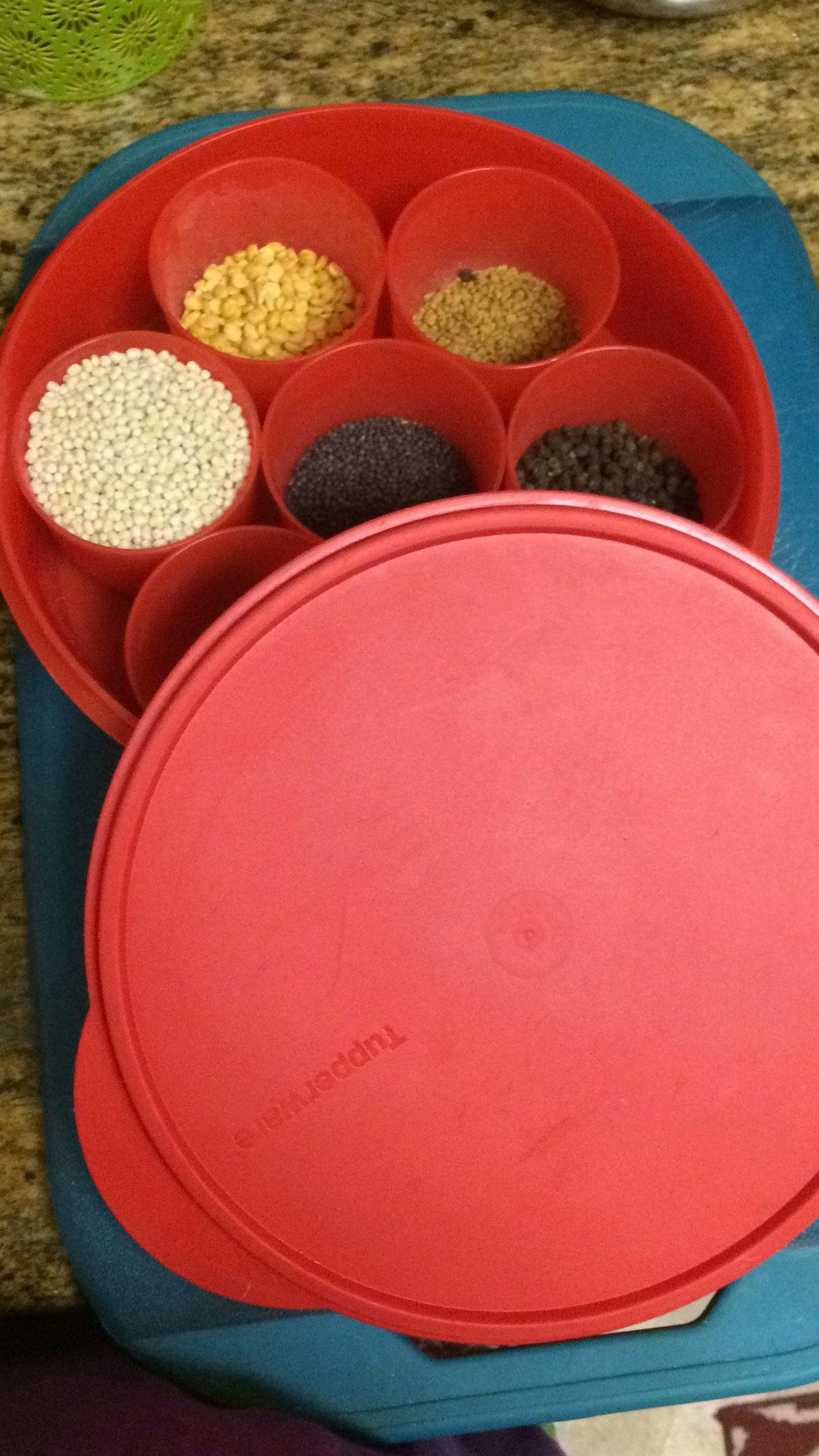 Tupperware masala box