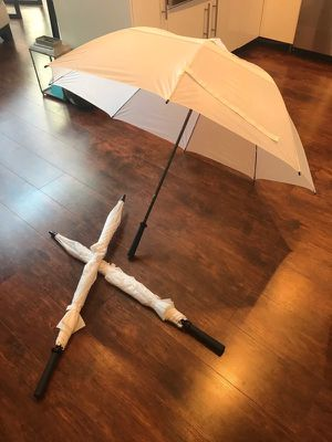 3 white umbrellas Wedding for Sale in Cleveland, OH