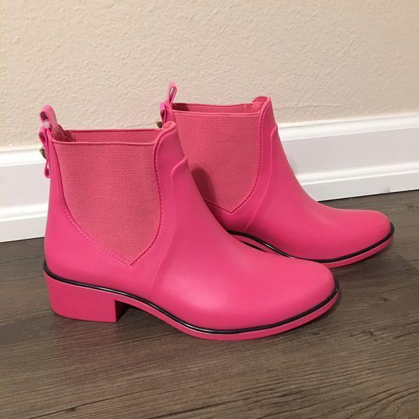 Kate Spade Hot Pink Rain Boots