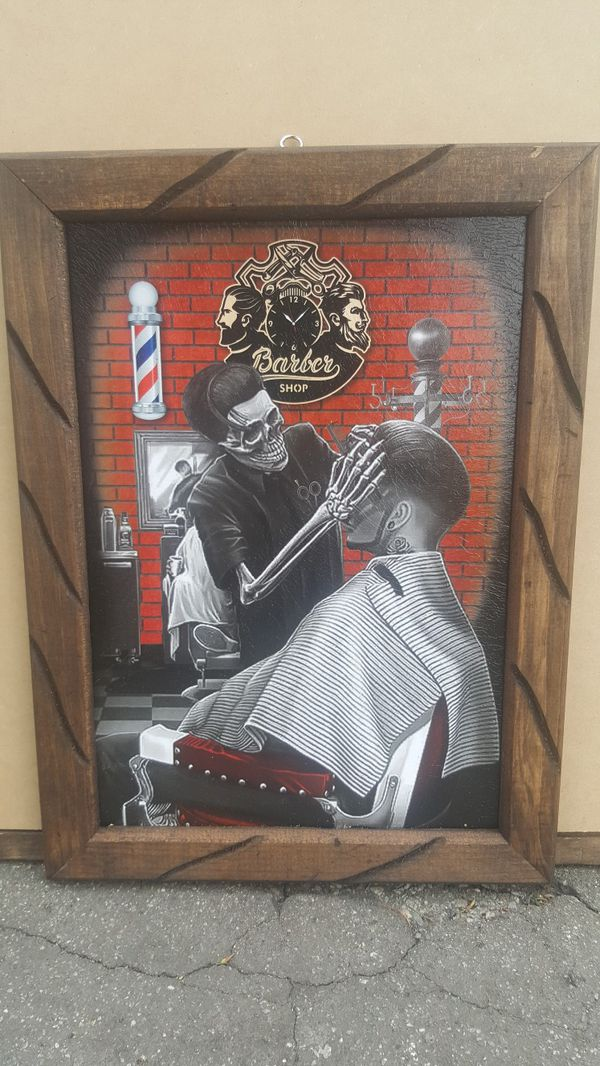 Small 13x18 Picture Print Frame For Barber Shop For Sale In Long