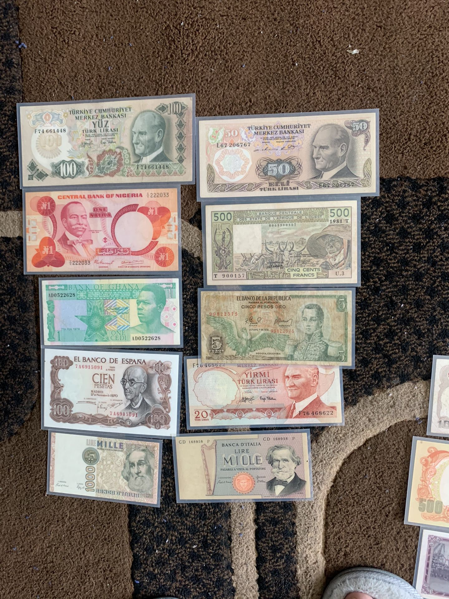 Lot Of 10 Mix Bank Note Bill