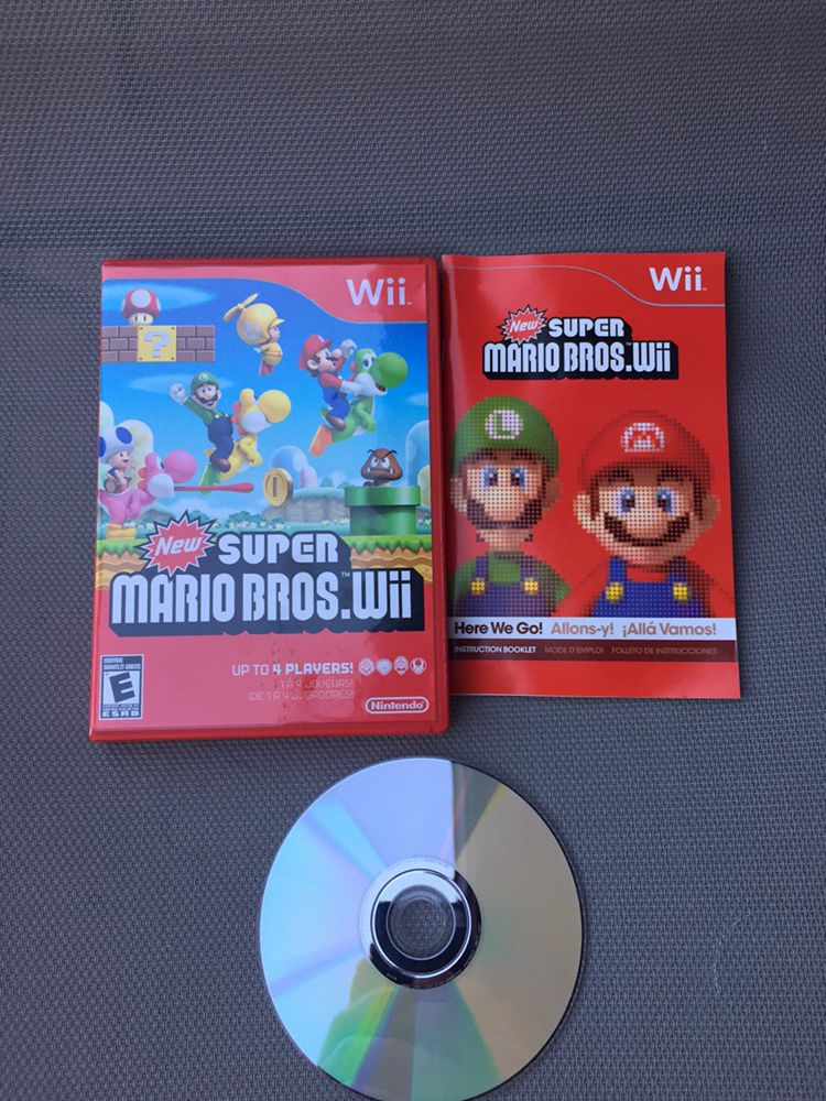 New Super Mario Bros Nintendo Wii LIKE NEW
