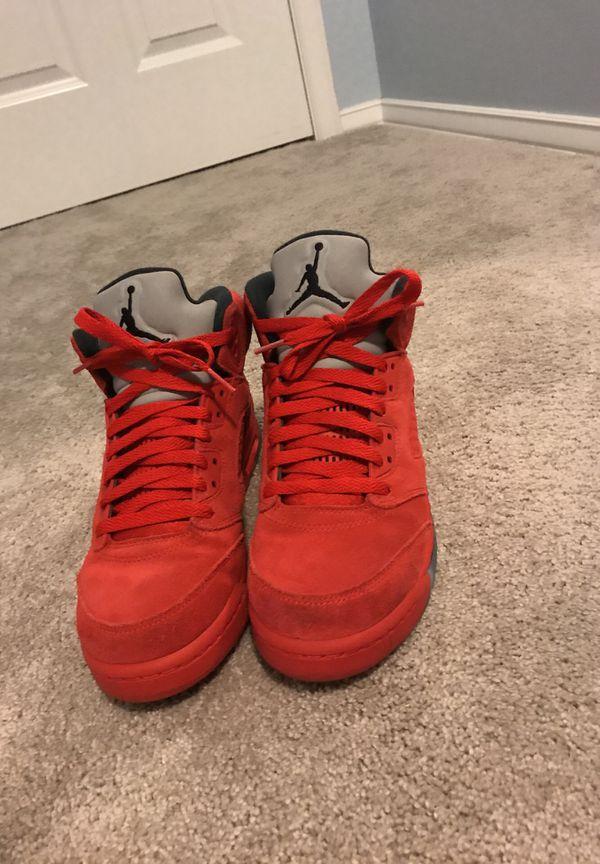 bc88b8e69a64d Jordan 5 Red Suede