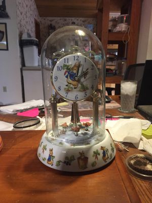 Peter Rabbit dome clock for Sale in Amherst, VA