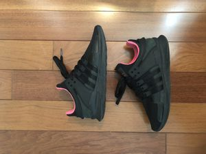 Black / Turbo Pink Adidas EQT Support ADV size 9.5 for Sale in NO POTOMAC, MD