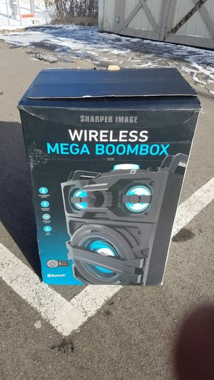 Sharper Image Wireless Mega Boombox Modelsbt1028 For Sale In Eagan
