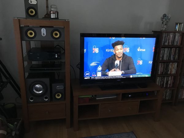 Tv Stand Plus Side Tower Obo Reduced For Sale In Fort Myers