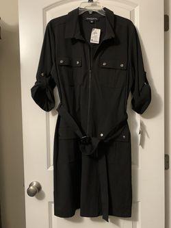 ROSS Black tie-waist Dress Thumbnail