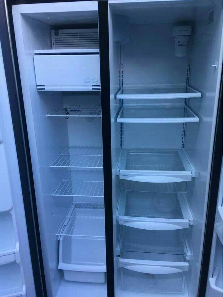 Stainless steal double door fridge