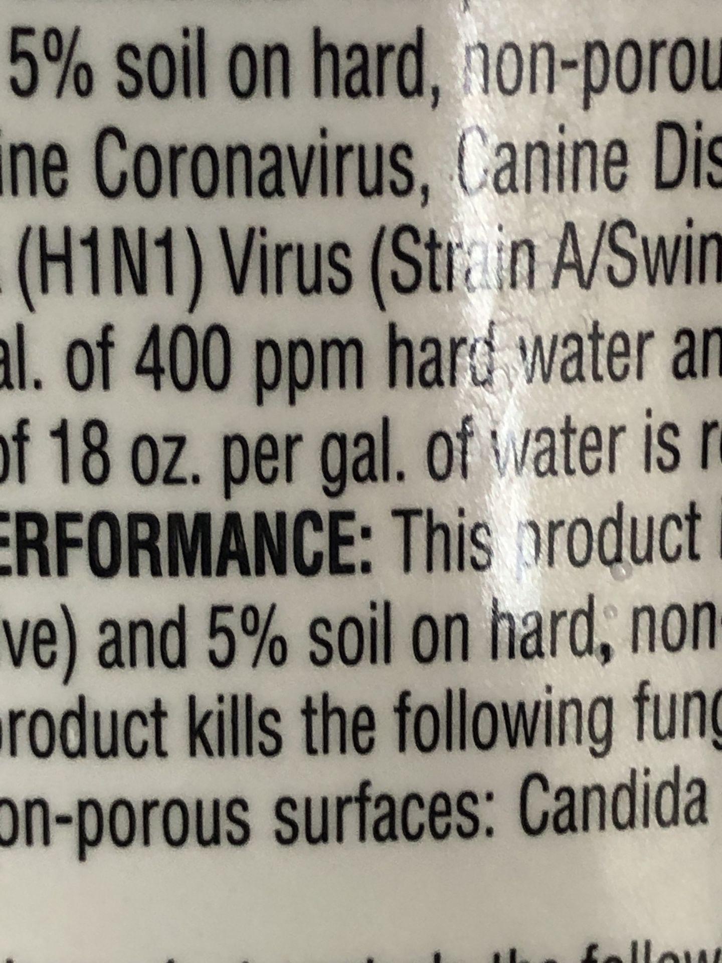Sanitizer/disinfectant
