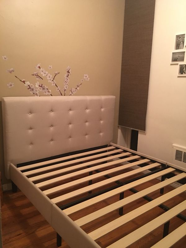 Sturdy Queen Bed Frame Tufted Headboard Furniture In New York Ny