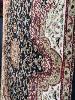 5/7 black red beige color classic design Persian medallion style carpet. Thumbnail