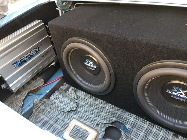 Car audio kit two 12 2 amps and equalizer for Sale in San Jose, CA - OfferUp