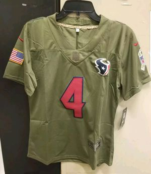 official photos b68b1 ca4e5 Houston Texans DeShaun Watson SALUTE TO SERVICE Woman Jersey Size L (NEW  w/TAGS) for Sale in Houston, TX - OfferUp