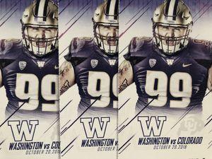 UW huskies vs Colorado Buffaloes 3 tickets!!! for Sale in Seattle, WA
