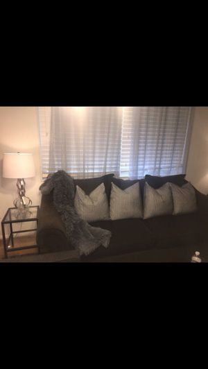 Grey pillows and throw for sofa home decor loveseat modern chic for Sale in Springfield, VA