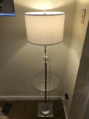 Floor Lamp with Tray for Sale in Arlington, VA