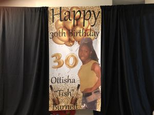 Custom made banner/backdrop for Sale in Hallandale Beach, FL