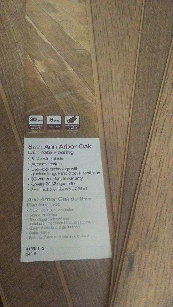 1 Case 8mm Ann Arbor Oak Laminate Flooring For Sale In Saint