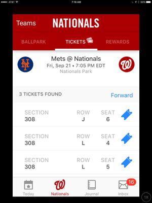 Nationals Baseball Tickets for Sale in Potomac Falls, VA