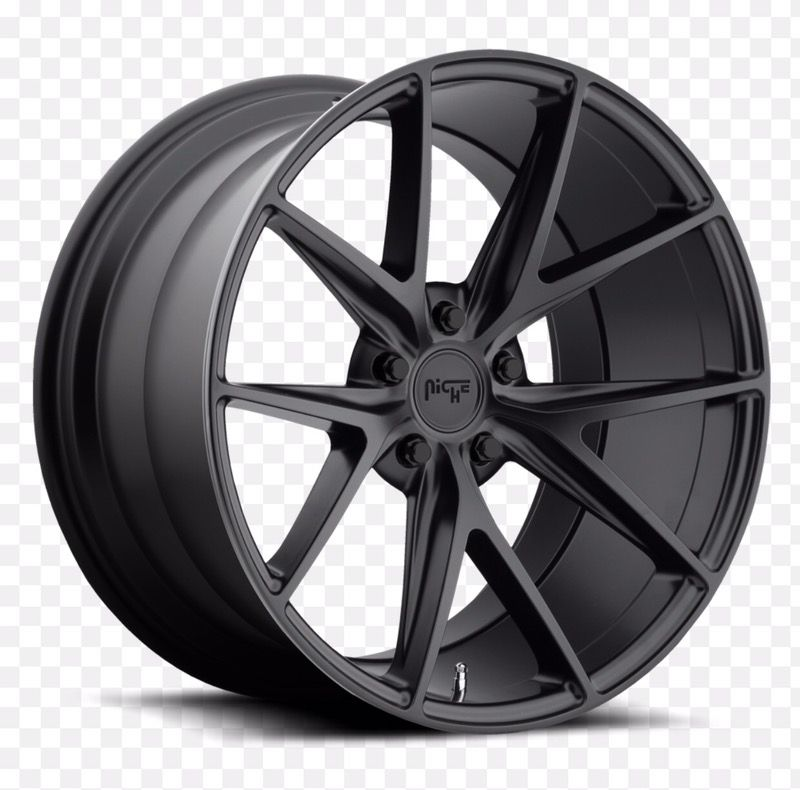 Niche Misano Satin Black Wheels @ Miami Best Wheels