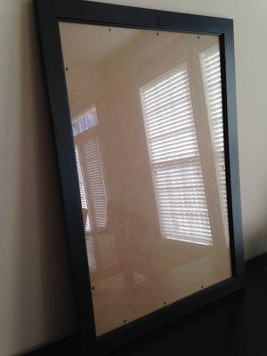 Black frame w/ glass, 23 x 33 for Sale in Sterling, VA