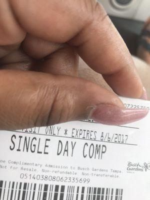 2 Busch Garden Tickets With Parking Pass for Sale in Tampa, FL