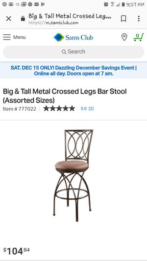 Big and tall bar stool for Sale in Glendale, AZ