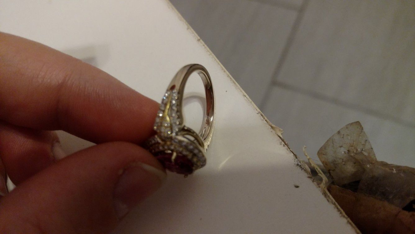 18kt Gold and white gold wedding Ring