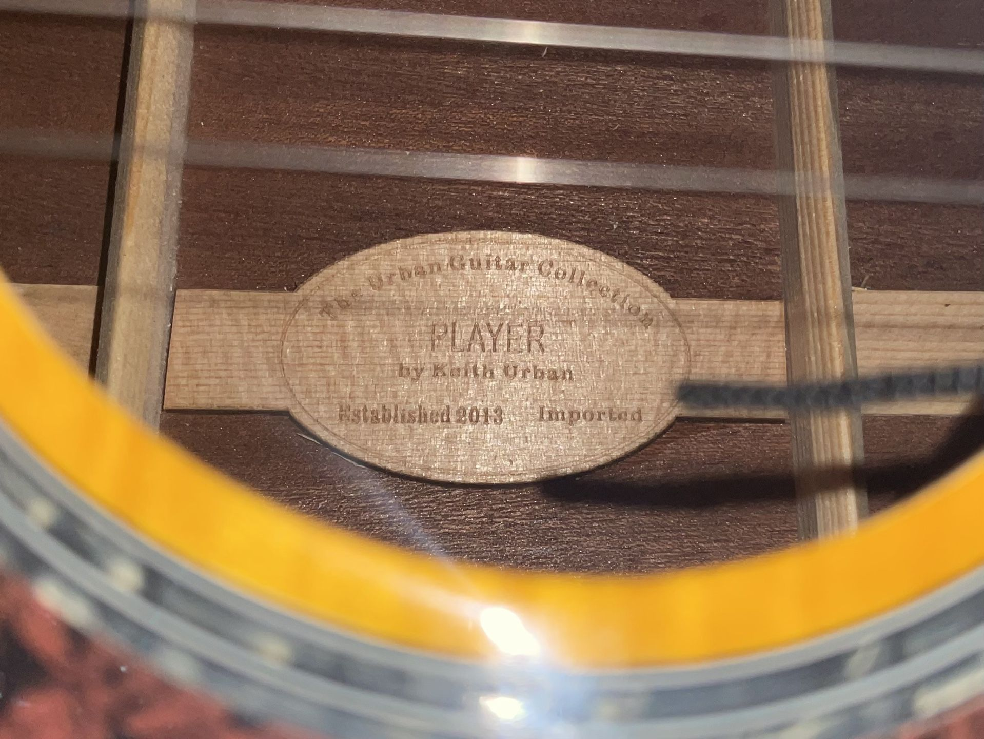 """Brand New Keith Urban """"player"""" Acoustic Guitar"""