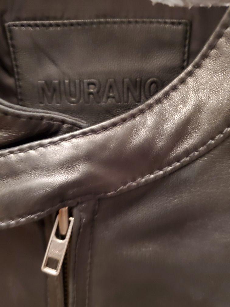Black leather moto jacket (genuine lamb skin)