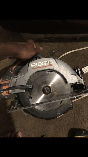 Ridgid Circular saw for Sale in Alexandria, VA