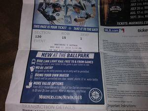 Ticket for Sale in Seattle, WA