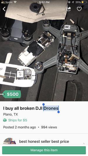 I buy all broken DJI Drones for Sale in Plano, TX