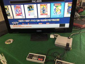 Photo NES Mario 1 2 3 Nintendo Original NES complete CLV-001 Mini 2 remotes Pac-Man Super Mario Pac-Man Megaman