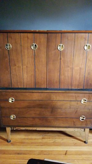 5 Drawer Dresser with Distressed Gold Leaf Design for Sale in Washington, DC