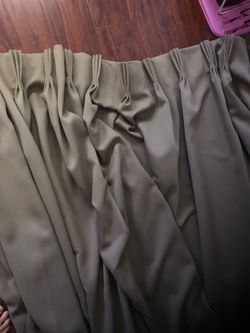 Hotel quality- from a hotel- pleated black out curtains Thumbnail