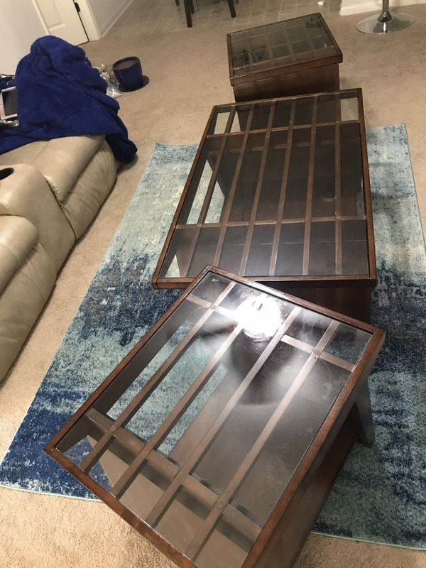 3pcs 100 Real Wood Living Room Table Set Furniture In Fayetteville NC