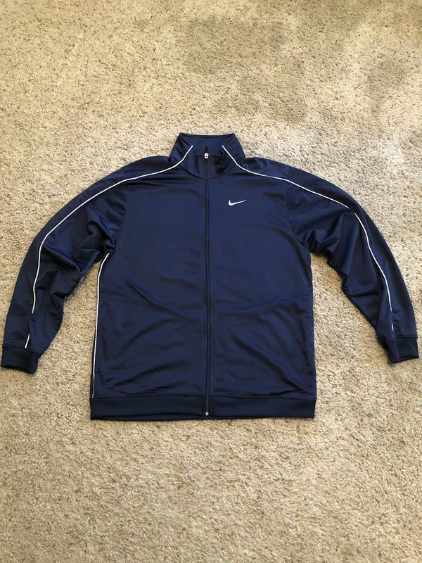 5ecd1890ce Nike Navy Blue Track Jacket Size Large Vintage for Sale in Stockton ...