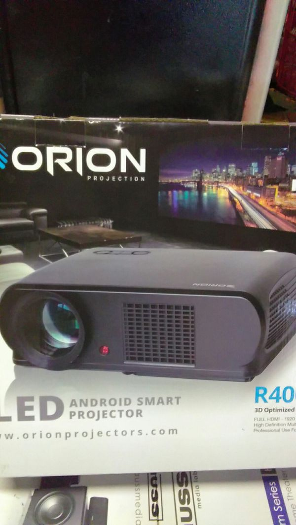 Orion 4 k HDMI led Android smart projector r 400 for Sale in San Jose, CA -  OfferUp