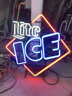 Miller Lite Ice Neon Light Sign  Thumbnail