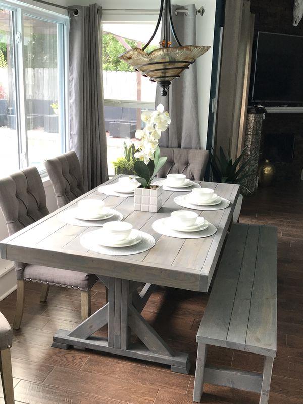 Custom Built Farmhouse Dining Table Amp Bench Breakfast